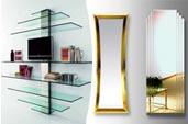 Изделия из стекла и зеркала для магазинов, офисов, жилых интерьеров, кухонь и ванных комнат