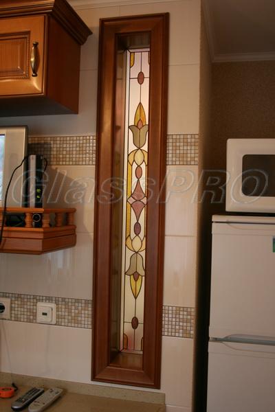 Витраж Тиффани в интерьерном проеме, квартира - Киев