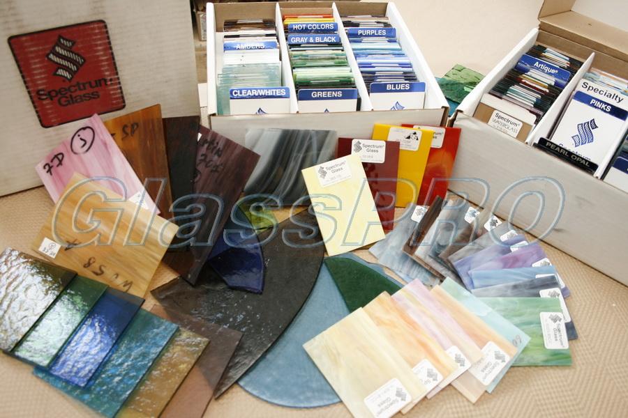 Образцы художественных стекол для изготовления витражей Тиффани