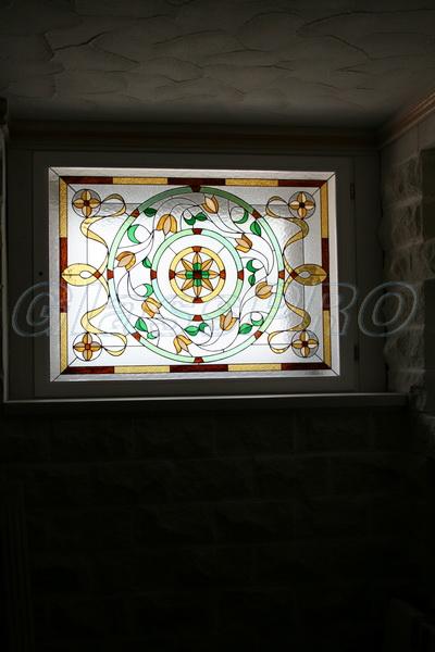 Витраж Тиффани, окно, винный погреб, коттедж - Киевская область
