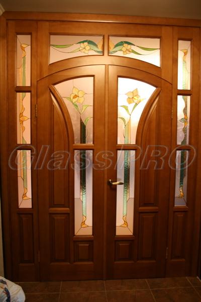 Витраж Тиффани, межкомнатные двери, апартаменты - Киев