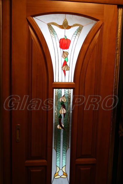 Витраж Тиффани, оформление двери в кухню, квартира - Киев