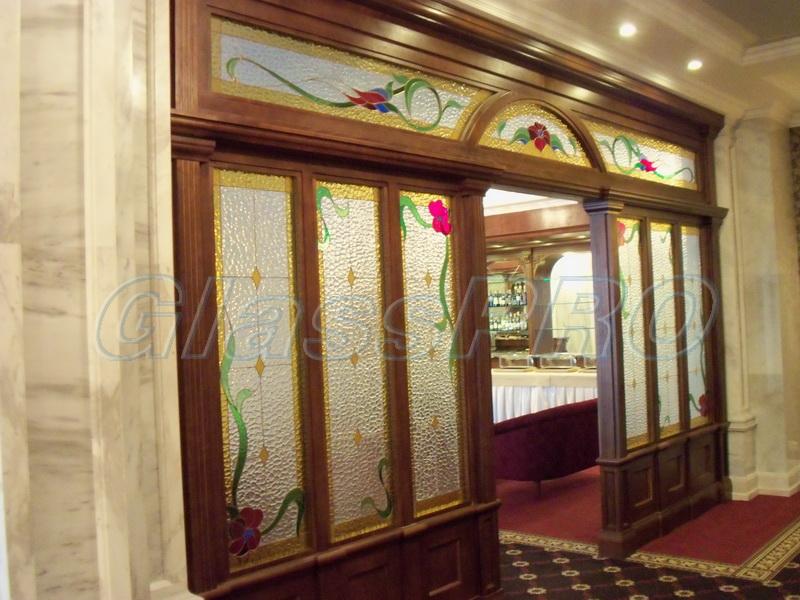Витраж Тиффани, интерьерная перегородка, гостиница - Донецк