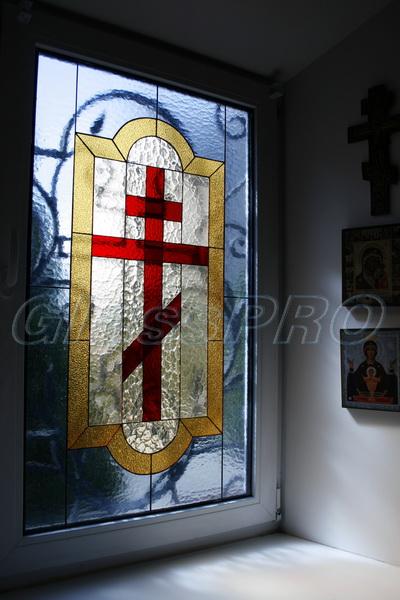 Витраж Тиффани, окно, церковь - Киев