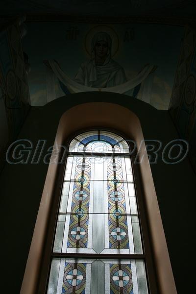 Витраж Тиффани, окно, часовня - Киевская область
