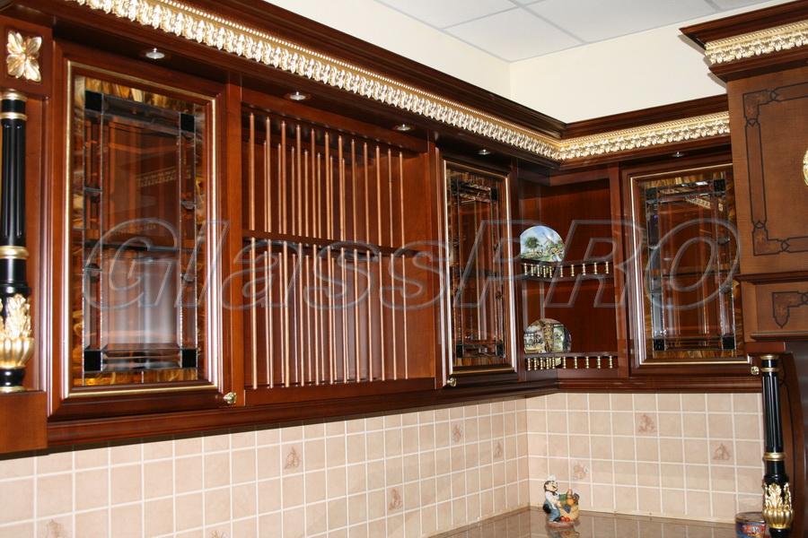 Витраж Тиффани, кухонный фасад