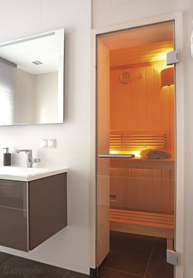Модель SN-01. Стеклянная дверь для бани и сауны