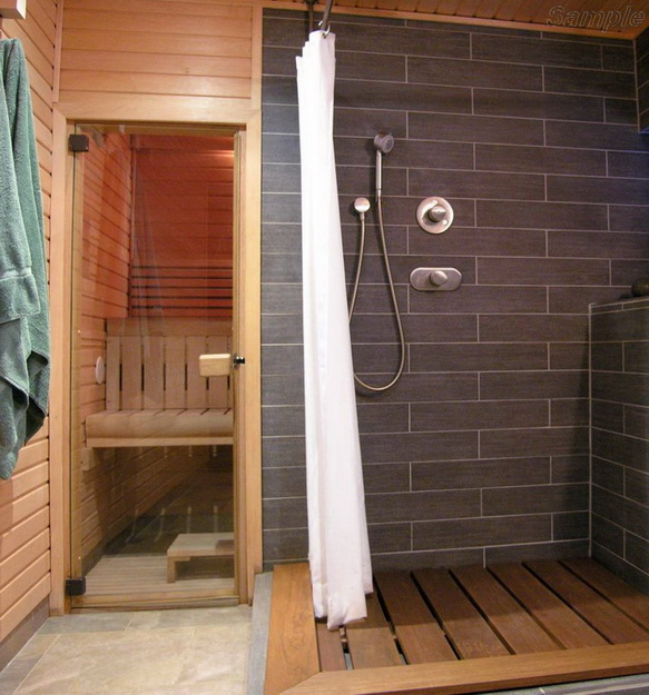 Модель SN-01. Стеклянная дверь для бани и сауны из прозрачного стекла