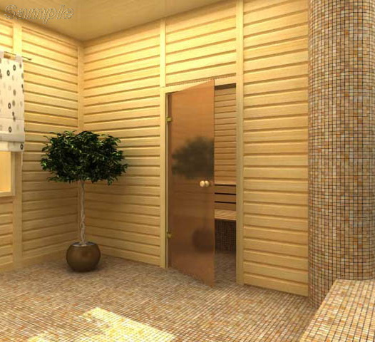 Model SN-01. Glass door for baths and saunas