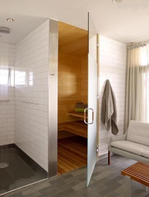 Модель SN-01. Стеклянная дверь для бани и сауны из матового стекла