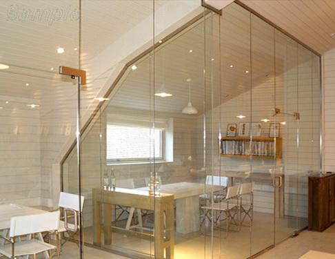 Tempered glass for interior partitions