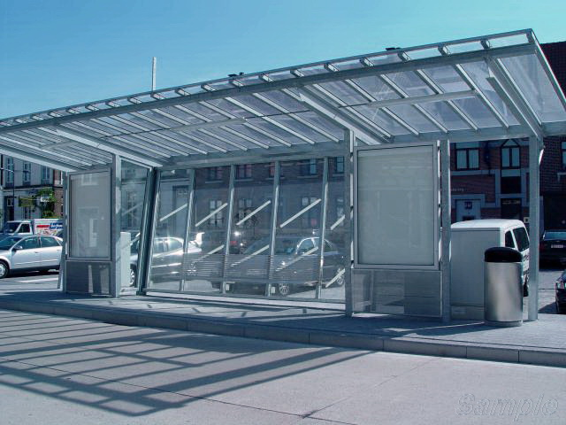 Tempered glass is used for public transport stop equipment