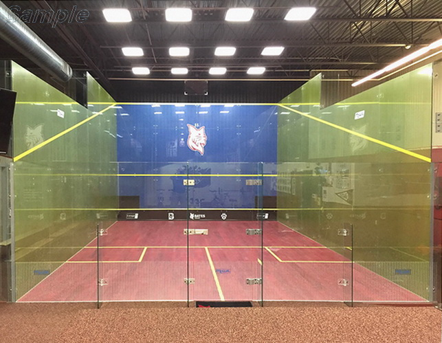 Tempered glass is used in the construction of halls for squash games