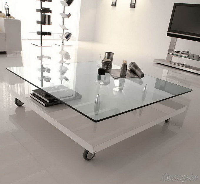 Tempered glass is used to make furniture
