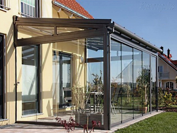 Tempered glass can be used to build a veranda