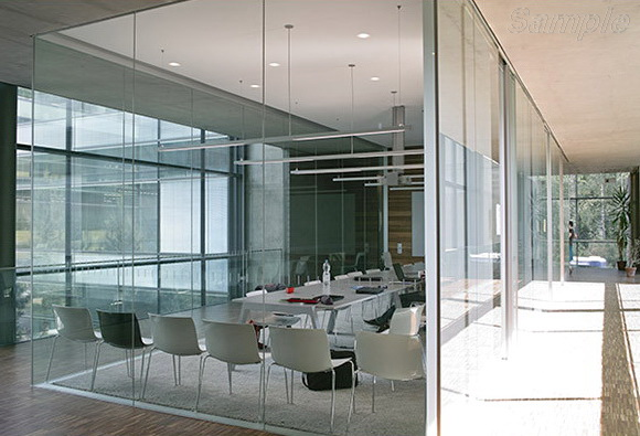 Tempered glass is used in the construction of glass office partitions