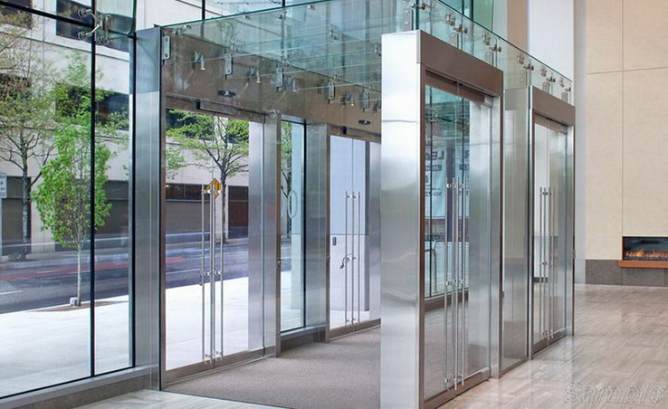 Tempered glass is used for the construction of vestibules and entrances