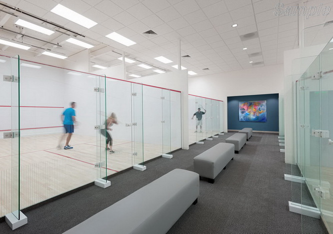 12mm tempered glass used in the construction of halls for squash games