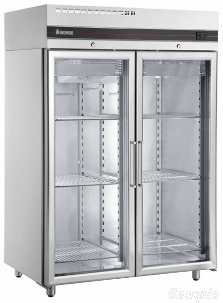 Tempered glass is used for the production of commercial refrigerator doors