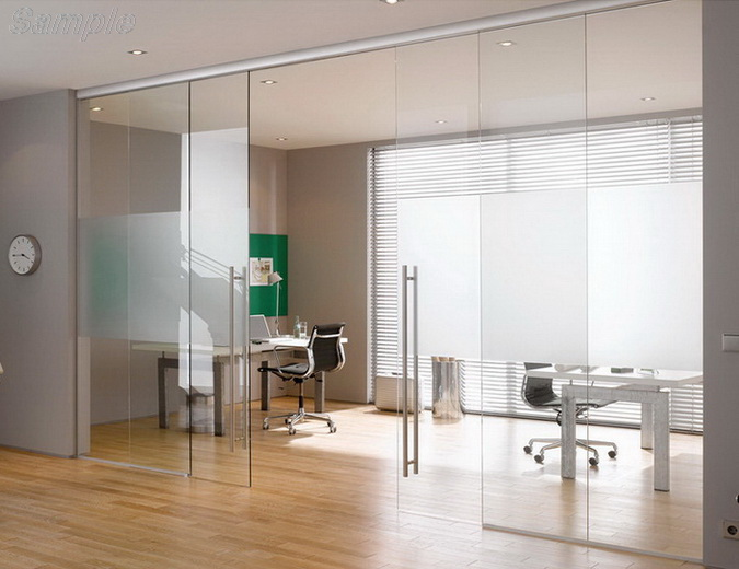 Tempered glass is used for the manufacture of sliding interior doors