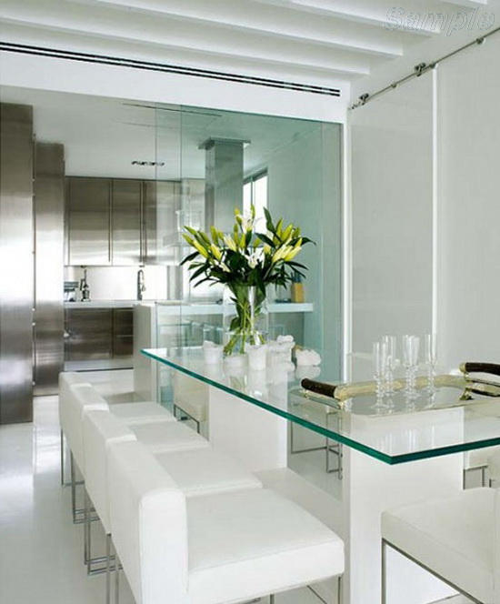 Tempered glass for a sophisticated dining table