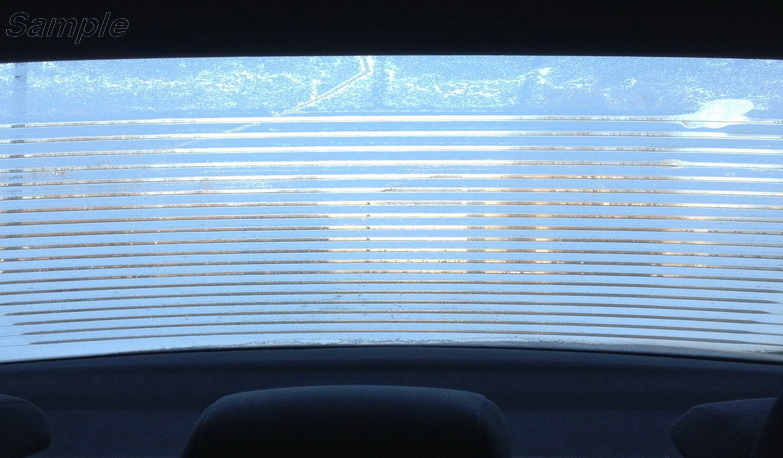 Electrically heated toughened glass is used for car rear windows