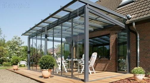 Закаленное стекло применяется для сооружения навесов