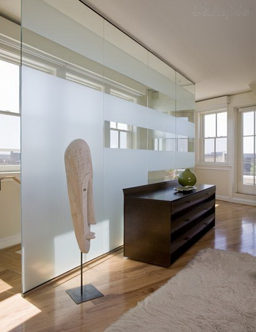 Glass partitions in a private house