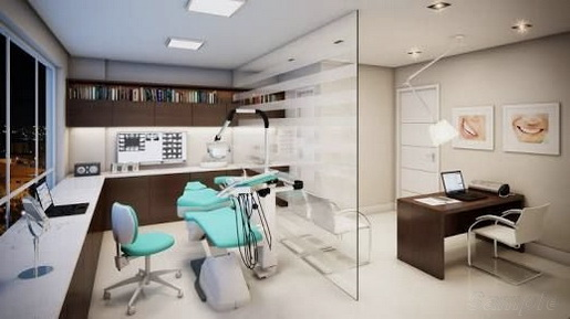 Glass partitions are used in dental clinics