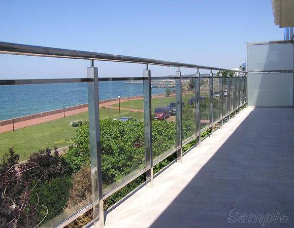 Triplex glass - balcony railing