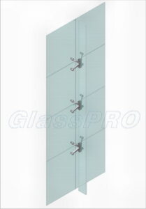 Layout of mounting to glass stiffener plates (an inside view)