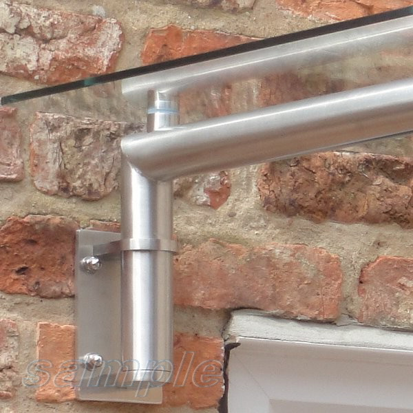 Stainless steel cantilever structure element for glass canopy mounting