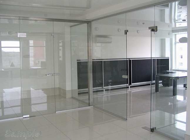Glass office partitions