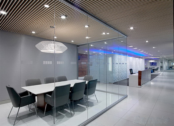 Glass interior partitions