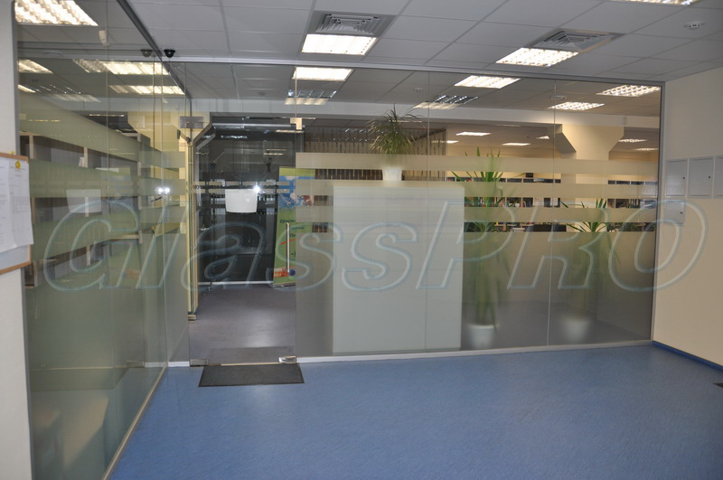 Glass office partitions in Kyiv