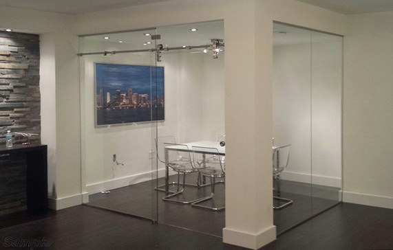Glass office partitions are suitable for arranging a meeting room in an office space