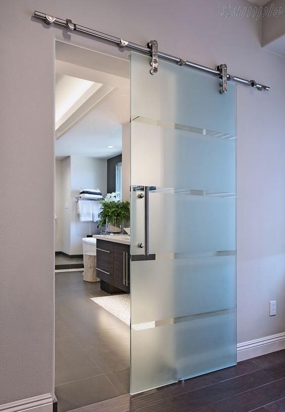 Раздвижные стеклянные двери с фурнитурой типа Monet