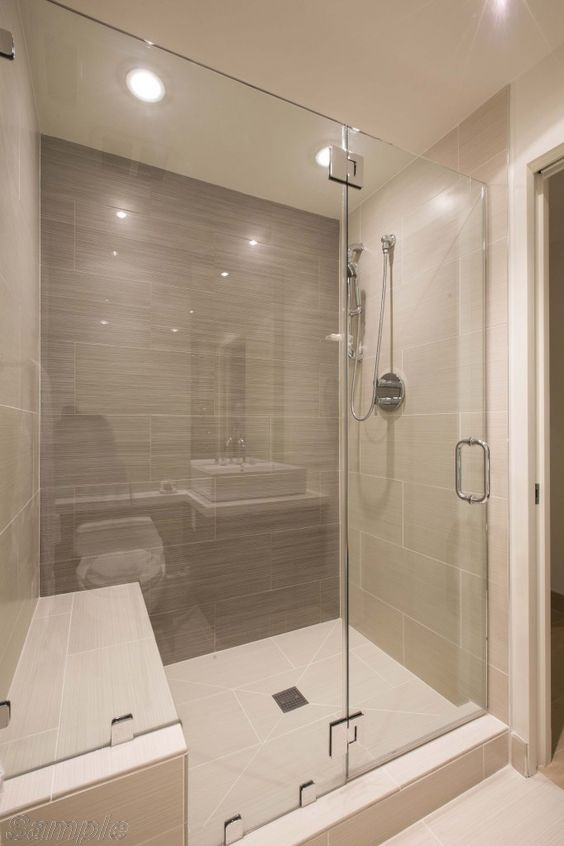 Model SD-03. Hinged single-leaf glass shower door with fixated element