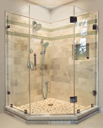 Model SC-6. Trapezoidal glass shower
