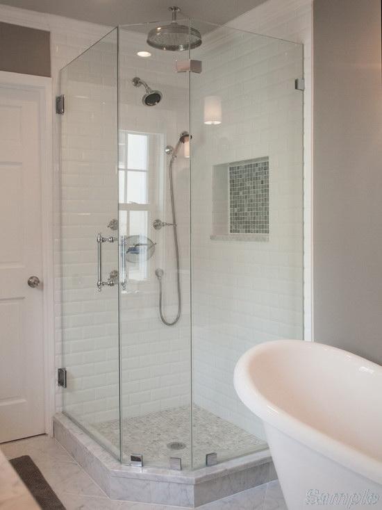 Model SC-6. Trapezoidal glass shower cabin