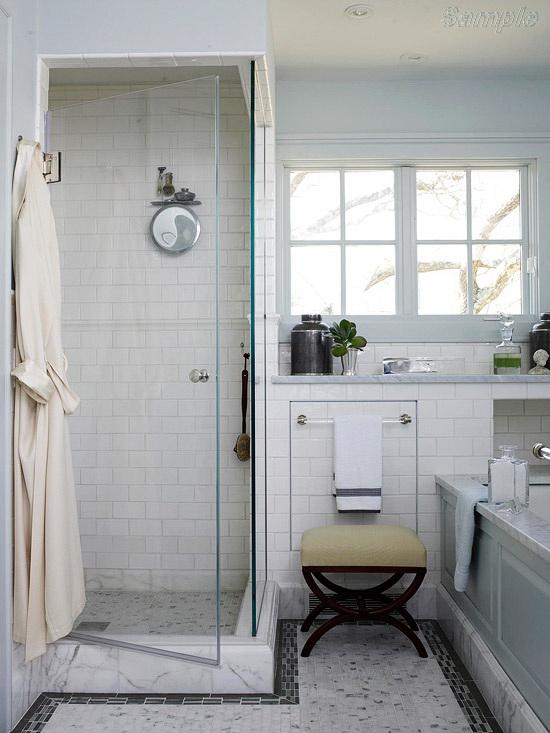 Model SC-01. Corner glass shower cabin with swing doorModel SC-01. Corner glass shower cabin with swing door