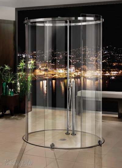 "Model SC-08. ""Island"" glass shower cubicle"
