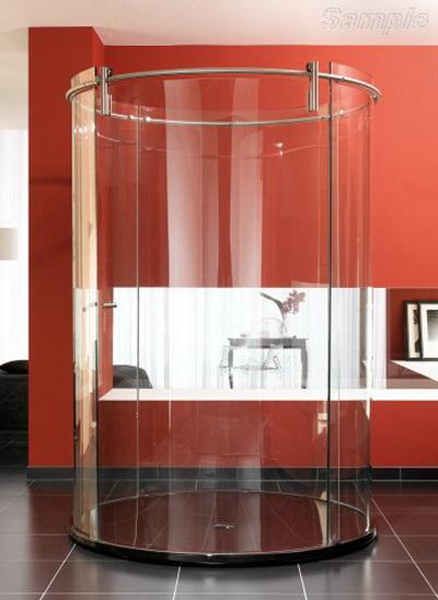 Model SC-08. Freestanding glass shower cabin