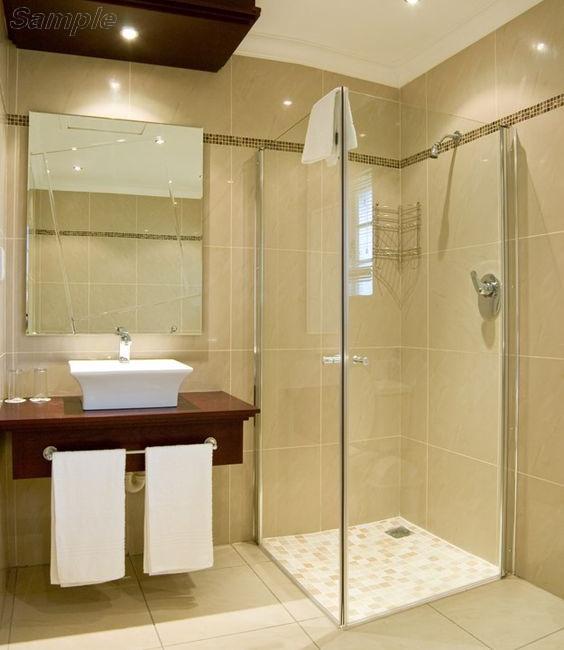 Model SC-01. Corner glass shower cabin with swing door
