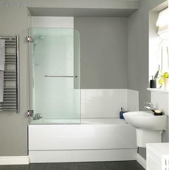 Model BS-02. Single hinged glass bath door