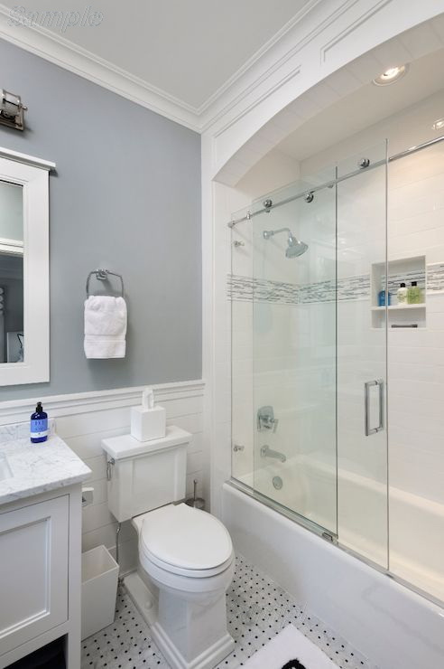 Model BS-07. Sliding glass bath doors