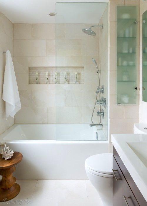 Модель BS-01. Фіксована скляна шторка для ванної