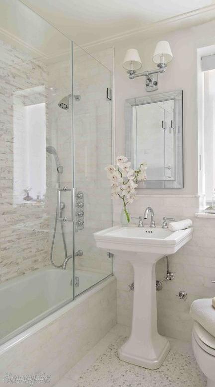 Модель BS-03. Двійчаста скляна шторка для ванної в комбінації з фіксованим елементом