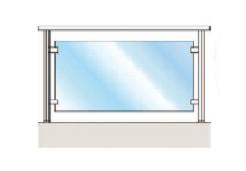 Каркасное стеклянное ограждение на зажимах