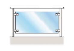Каркасное стеклянное ограждение на точечных креплениях